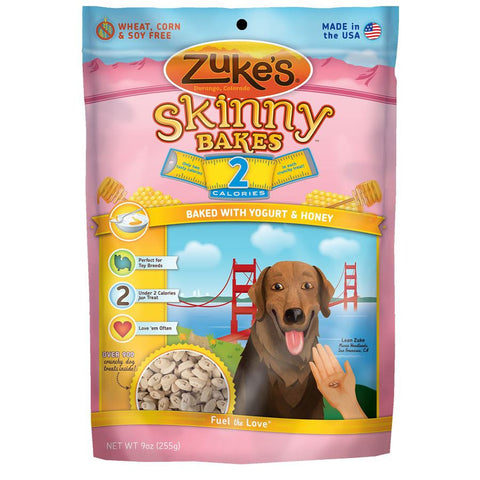 Zuke's: Skinny Bakes Mini 2-calories Crunch Dog Treats (YOGURT & HONEY) 9oz | Treats - 1