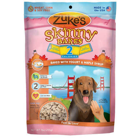 Zuke's: Skinny Bakes Mini 2-calories Crunch Dog Treats (YOGURT & MAPLE SYRUP) 9oz | Treats - 1