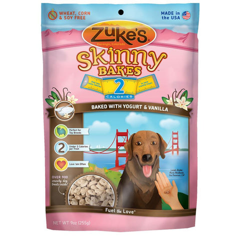 Zuke's: Skinny Bakes Mini 2-calories Crunch Dog Treats (YOGURT & VANILLA) 9oz | Treats - 1