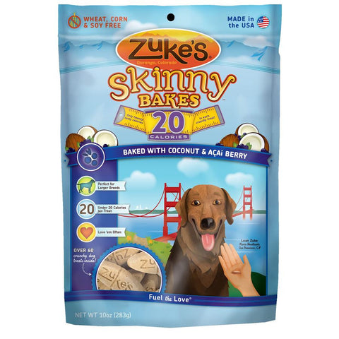 Zuke's: Skinny Bakes Mini 20-calories Crunch Dog Treats (Coconut & Acai) 10oz | Treats - 1