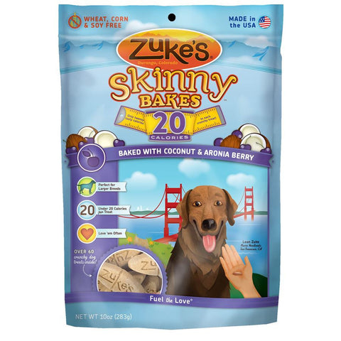 Zuke's: Skinny Bakes Mini 20-calories Crunch Dog Treats (Coconut & Aronia Berry) 10oz | Treats - 1