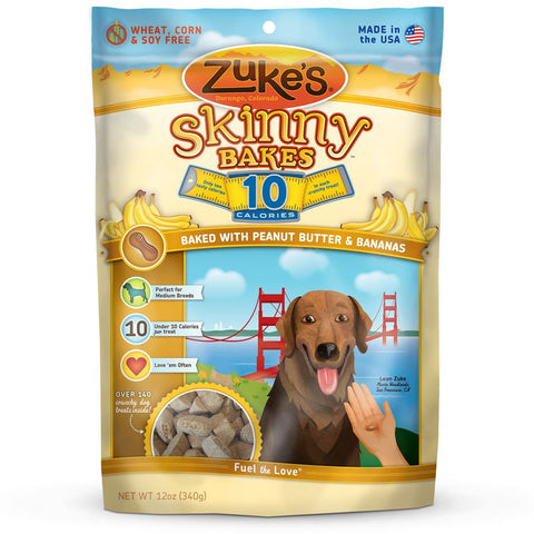 Zuke's: Skinny Bakes Mini 10-calories Crunch Dog Treats (Peanut Butter & Banana) 12oz | Treats - 1