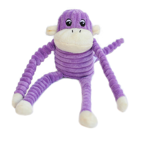 ZIPPYPAWS - SPENCER CRINKLE MONKEY DOG TOY (SMALL)