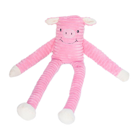 Zippypaws - Lanky Striped Pig Dog Toys
