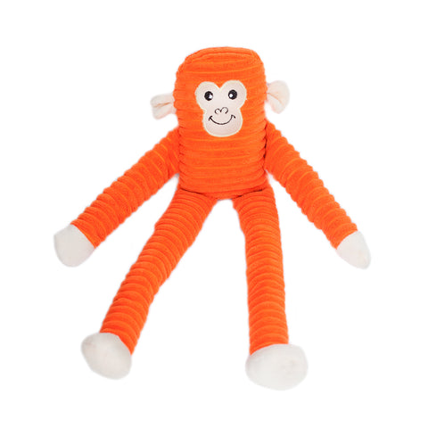 Zippypaws - Lanky Striped Monkey Dog Toys