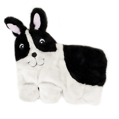 Zippypaws Squeakie Pups - Boston Terrier (No Stuffing) | Toy - 1
