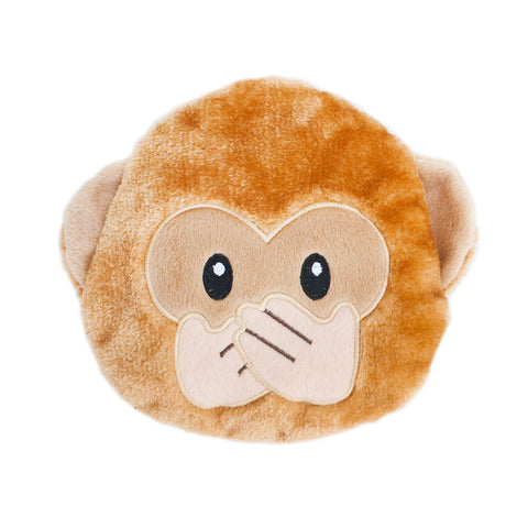 Zippypaws - Squeakie Emojiz™ - Speak No Evil Monkey Dog Toy