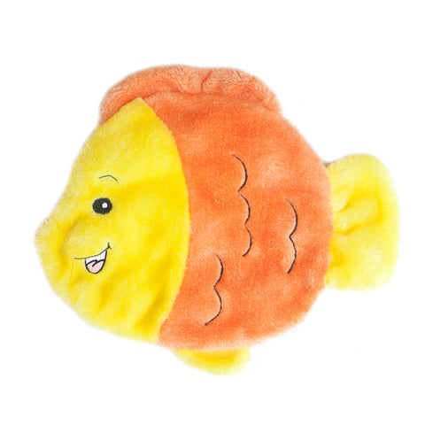 Zippypaws - Squeakie Flattiez Goldie the Goldfish Dog Toy