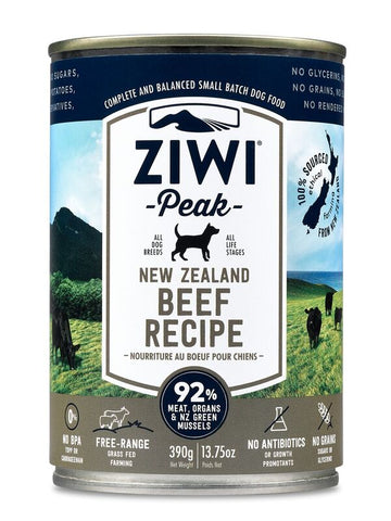 Ziwi Peak Moist Beef Canned Dog Food 390g