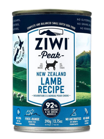 Ziwi Peak Moist Lamb Canned Dog Food 390g