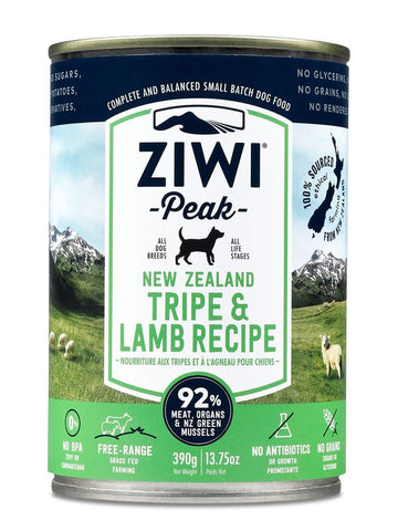 Ziwi Peak Moist Tripe And Lamb Canned Dog Food 390g
