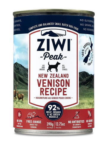 Ziwi Peak Moist Venison Canned Dog Food 390g