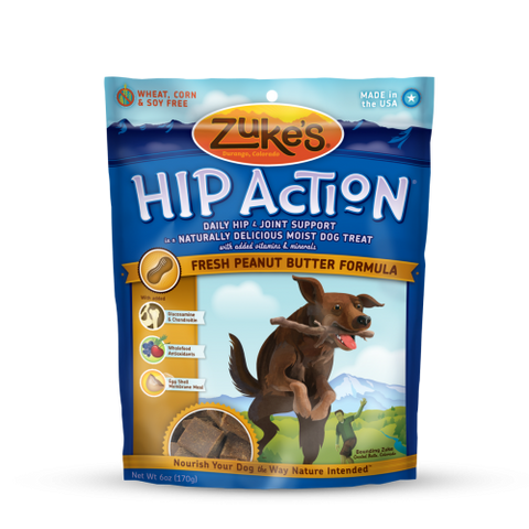 Zuke's - Hip Action Treats with Glucosamine (Peanut Butter) 170g | Treats