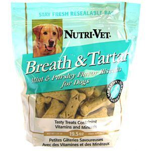 NutriVet Breath & Tartar Mint & Parsley Biscuit | Treats