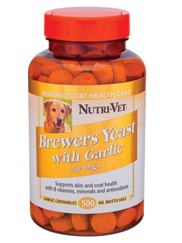 NutriVet Brewers Yeast Flavored with Garlic | Canine Supplements