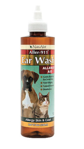 NaturVet Aller-911 Earwash | Canine Supplements