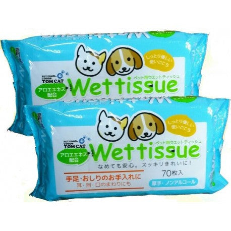 Tom Cat Anti Bacterial Wet Wipes (70pcs) | Grooming