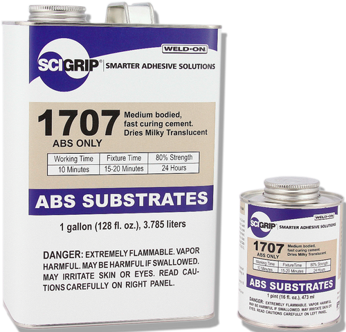 SCIGRIP IPS Weld-On #1707 ABS Substrates Fast Curing Solvent Cement #10486