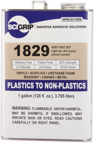 SCIGRIP IPS Weld-On #1829 Adhesive - for Plastics, Vinyl, Acrylic, Wood, Metal, and More!