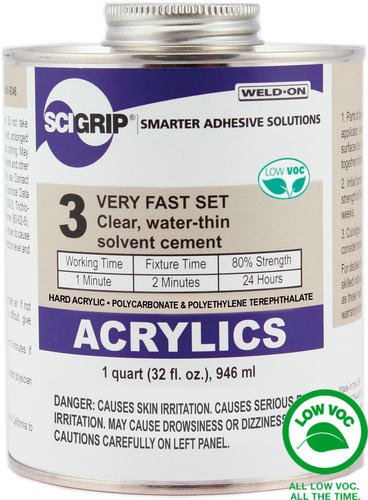 SCIGRIP IPS Weld-On #3 Acrylic Solvent Cement