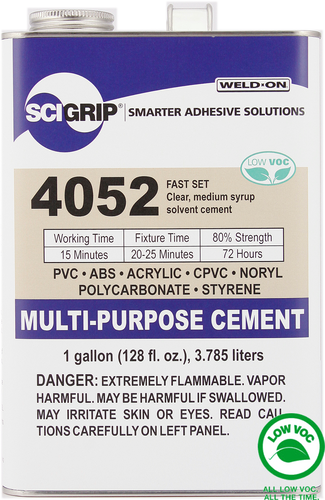 SCIGRIP IPS Weld-On #4052 Plastic Solvent Glue Cement for Acrylic, PVC, ABS, & more