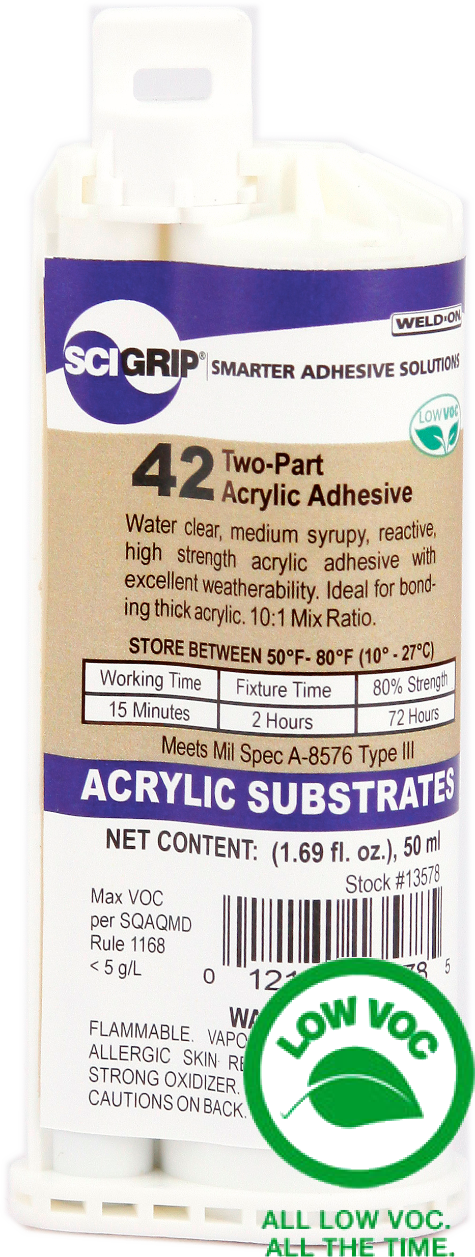 SCIGRIP IPS Weld-On #42 Acrylic Adhesive Glue Cartridge