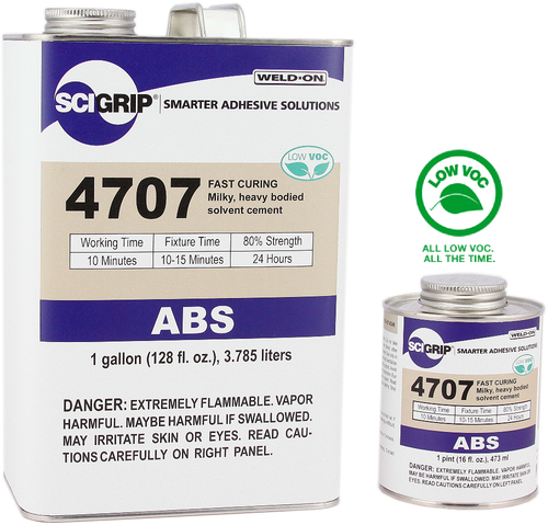SCIGRIP IPS Weld-On #4707 ABS Plastic Solvent Cement Glue