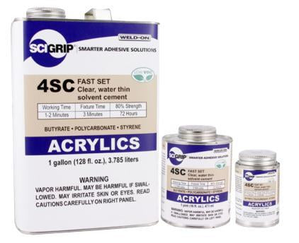 SCIGRIP IPS Weld-On #4SC Plastic Solvent Glue Cement for Acrylic and Plexiglass