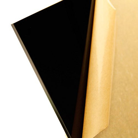"2025 Black, Opaque, Acrylic Sheet, 6 MM (0.24"") Thick"