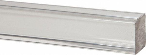 "Clear Extruded Acrylic Square Rod - Pick Diameter & Length - 36"" Long / 3/16"" Diameter (Pack of 20)"