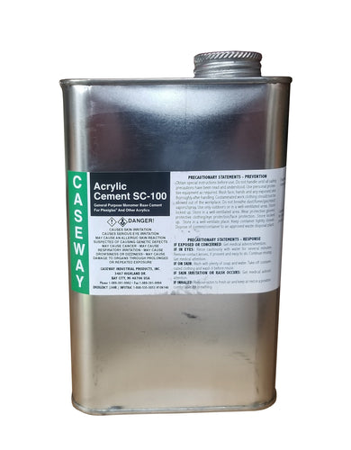 Caseway SC-100 Acrylic Cement, Water-Thin, Fast-Setting