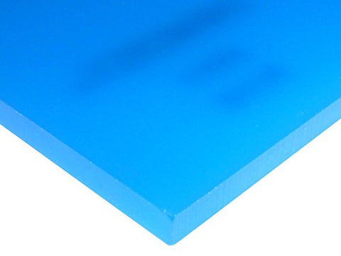 "2051 Blue, Highly Translucent, Acrylic Sheet, 6 MM (0.24"") Thick, 18"" W x 18"" L"