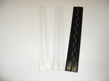 "Acrylic Plastic Continuous Piano Hinge - 1 3/4"" x 12"" Long"