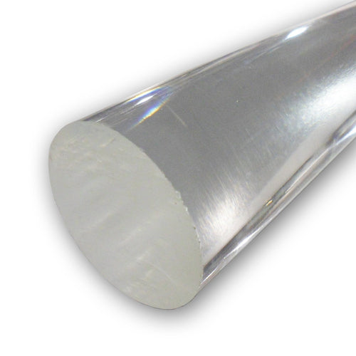 Clear Extruded Acrylic Round Rod - Pick Diameter & Length - Plastic-Craft Products
