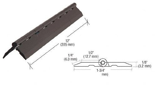 "Acrylic Plastic Continuous Piano Hinge - 1 3/4"" x 12"" Long - Plastic-Craft Products"