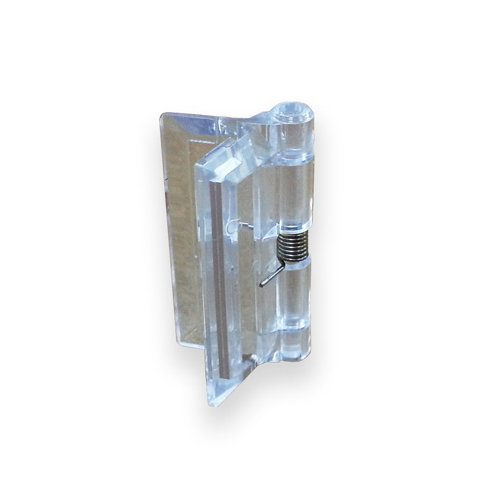 Small Acrylic Spring-Loaded Plastic Hinge 1-1/2