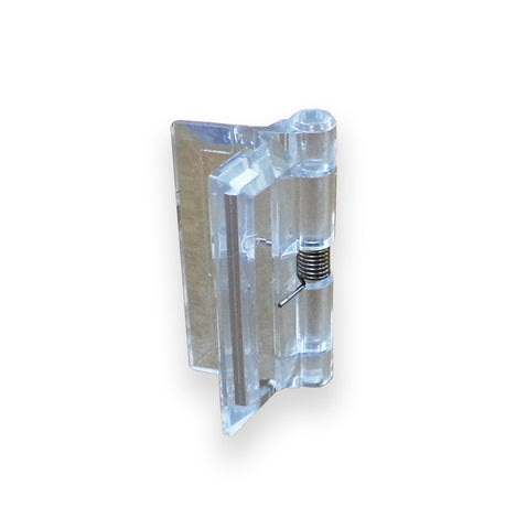 "Small Acrylic Spring-Loaded Plastic Hinge 1-1/2"" X 1-5/8"" - Pack of 2 - Plastic-Craft Products"