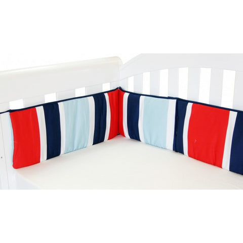 Babyhood - Breezy Blue Bumper 2 (Red Blue White)