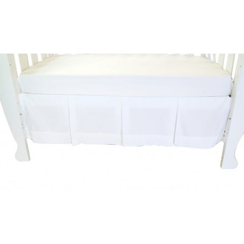 Babyhood - Classic White Crib Skirt (Dust Ruffle)