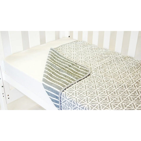 Babyhood - Summer Stripe Coverlet Grey