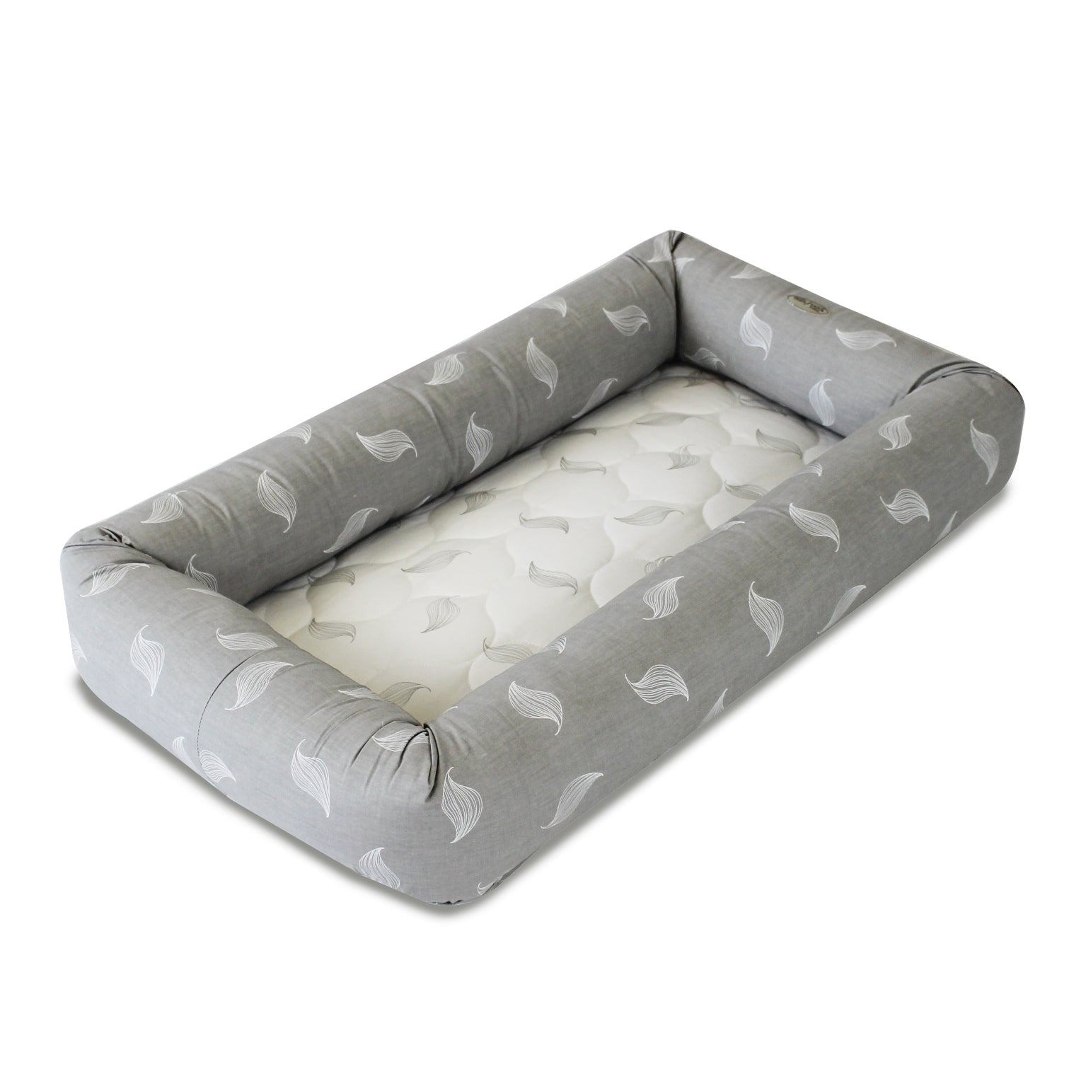 Babyhood Cosy Crib Breathe Eze Pod (Grey Leaf)