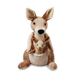 "Kangaroo Plush Toy 12"" ( Includes Joey)"