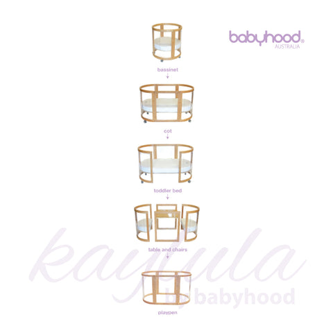 Image result for babyhood KAYLULA SOVA CLEAR COT - 5 IN 1 (BEECH)
