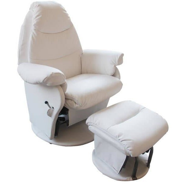 Babyhood Glider Chair Vogue (Milk White)