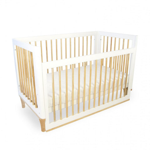 Babyhood Riya Cot ( Beech and White Two Tone)