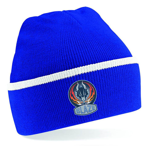 Blaze Royal Blue and White Beanie Hat