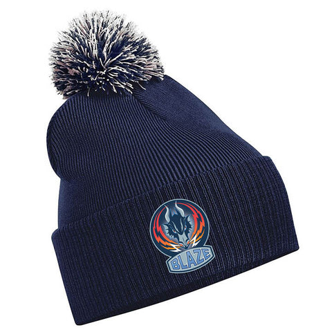 Blaze Navy Blue Bobble Hat