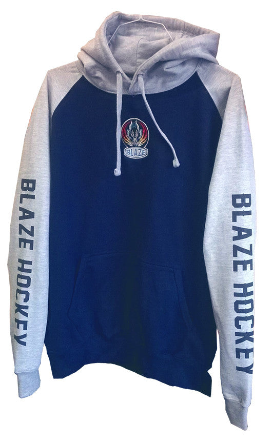 Blaze Embroidered Logo Baseball Style Hoody
