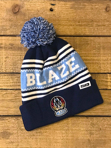 New Sky Blue Bobble Hat