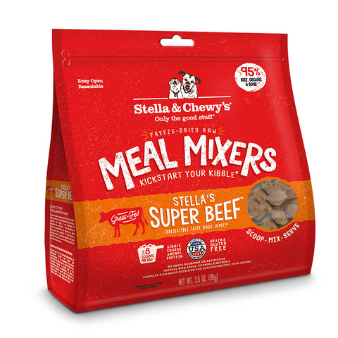 Stella & Chewy's - Meal Mixers Stella's Super Beef - Freeze-Dried Dog Food - Various Sizes (Hillsborough County FL Delivery Only)